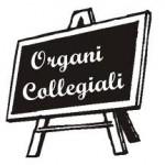 lavagna con scritta organi collegiali