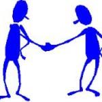 due omini si stringono la mano